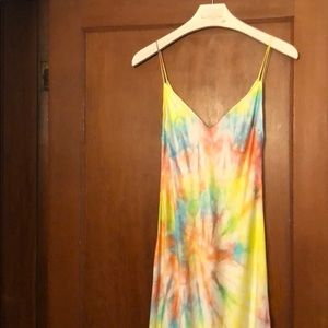 Dannijo Tie Dye Silk Maxi Slip Dress Size M